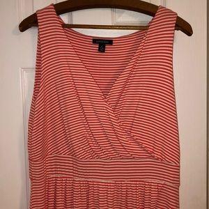 Lands' End Dresses - Lands End coral striped maxi dress in Large